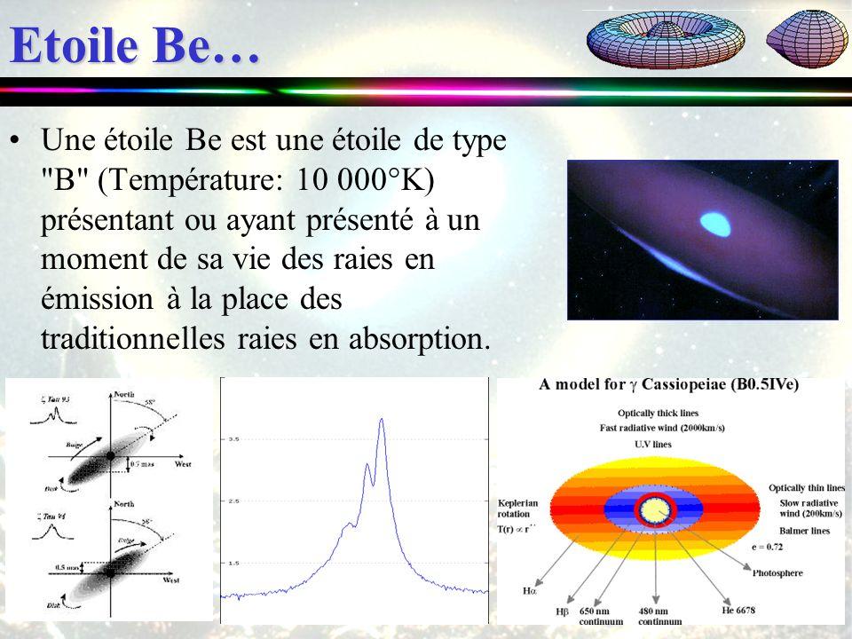 Etoile Be… Une étoile Be est une étoile de type