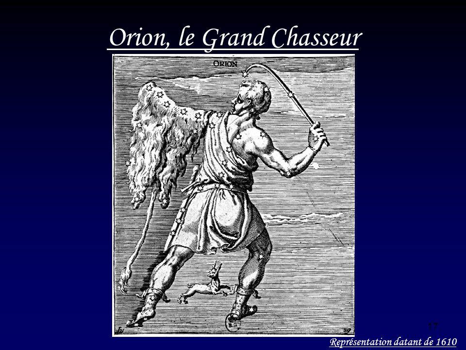 17 Orion, le Grand Chasseur Représentation datant de 1610