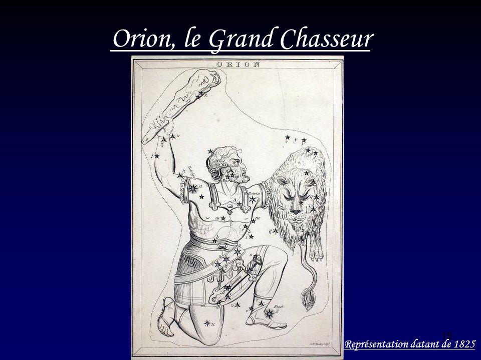 19 Orion, le Grand Chasseur Représentation datant de 1825
