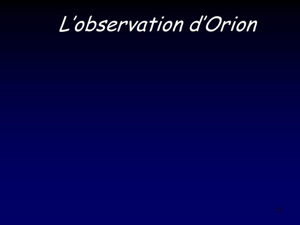 22 Lobservation dOrion