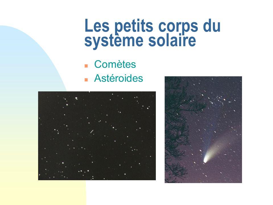 Les petits corps du système solaire Comètes Astéroides