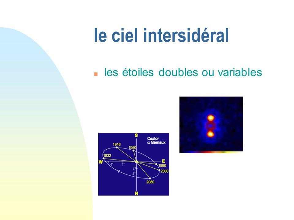 le ciel intersidéral les étoiles doubles ou variables