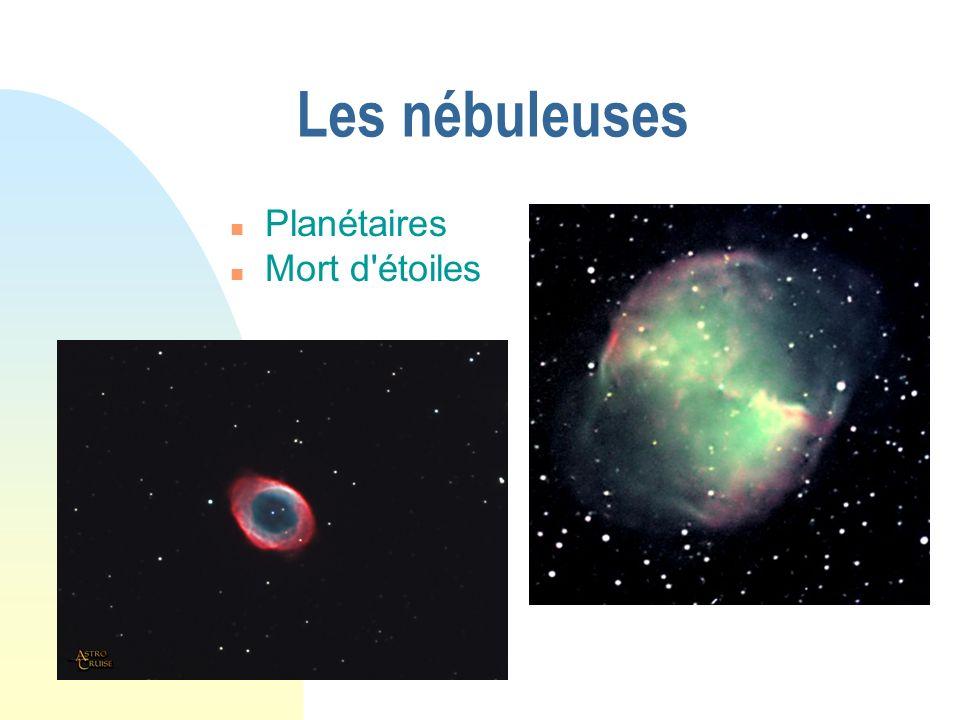 Les nébuleuses Planétaires Mort d étoiles