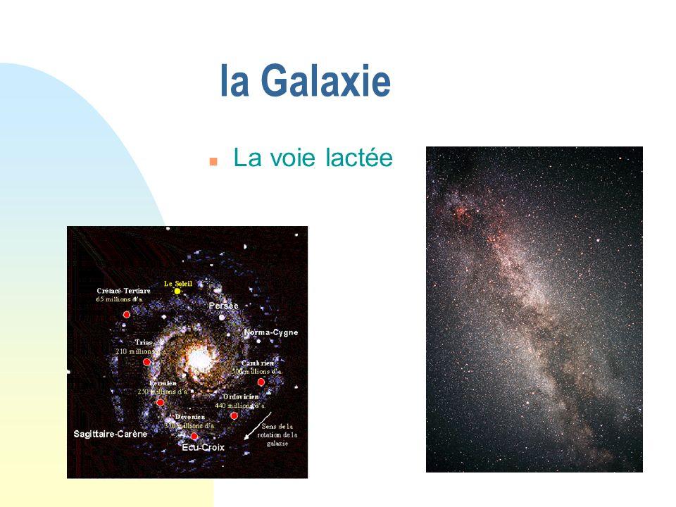 la Galaxie La voie lactée