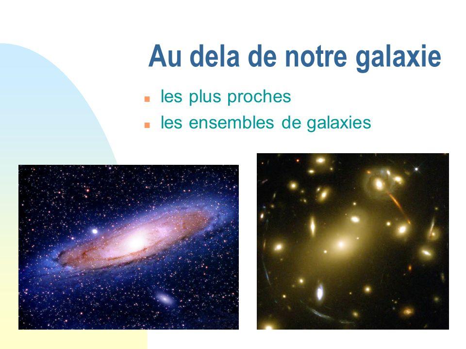 Au dela de notre galaxie les plus proches les ensembles de galaxies