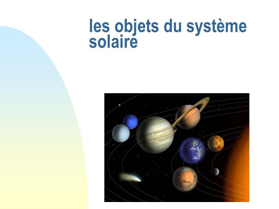 Les Objets du Système Solaire Les planètes Telluriques Mercure Vénus Terre Mars