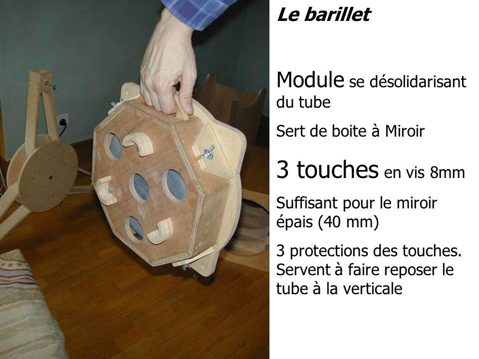 Le barillet Module se désolidarisant du tube Sert de boite à Miroir 3 touches en vis 8mm Suffisant pour le miroir épais (40 mm) 3 protections des touc