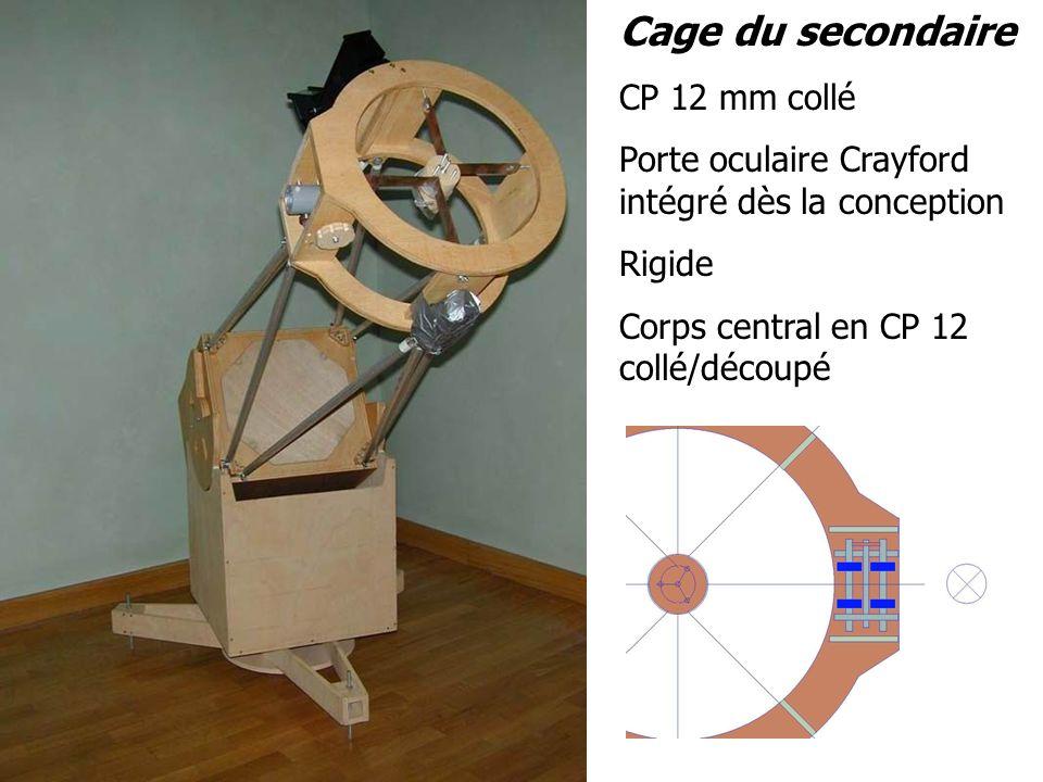 CP 12 mm collé Porte oculaire Crayford intégré dès la conception Rigide Corps central en CP 12 collé/découpé