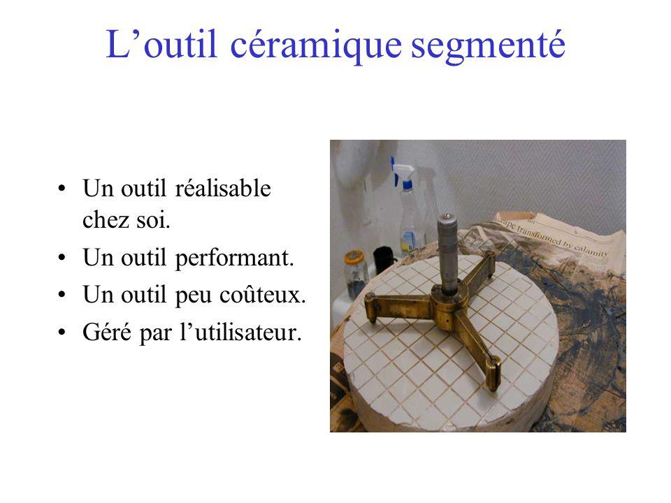 Loutil céramique segmenté Un outil réalisable chez soi. Un outil performant. Un outil peu coûteux. Géré par lutilisateur.