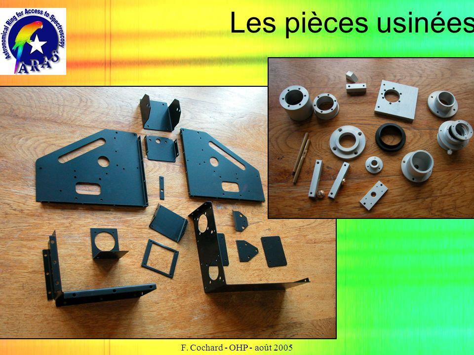 F. Cochard - OHP - août 2005 Les pièces usinées