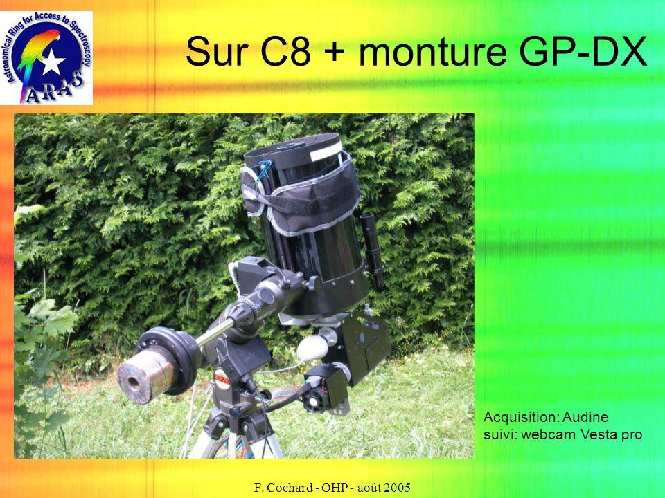 F. Cochard - OHP - août 2005 Sur C8 + monture GP-DX Acquisition: Audine suivi: webcam Vesta pro