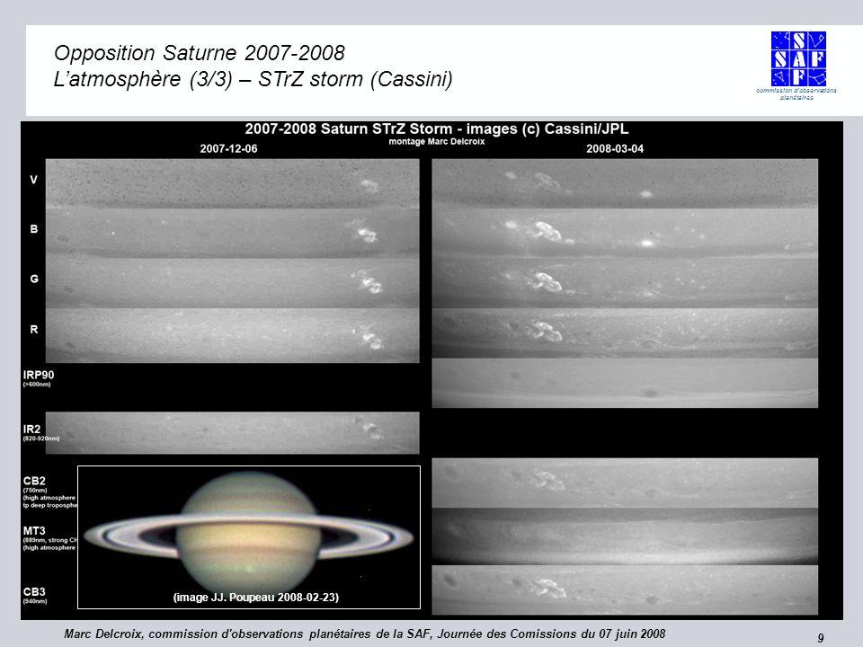 commission d observations planétaires 10 Saturne Saturne Que peuvent apporter les astronomes amateurs .