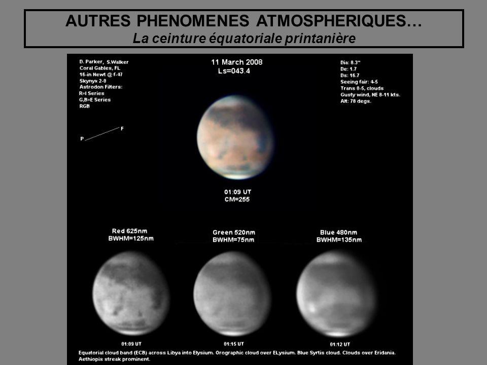 AUTRES PHENOMENES ATMOSPHERIQUES… La ceinture équatoriale printanière