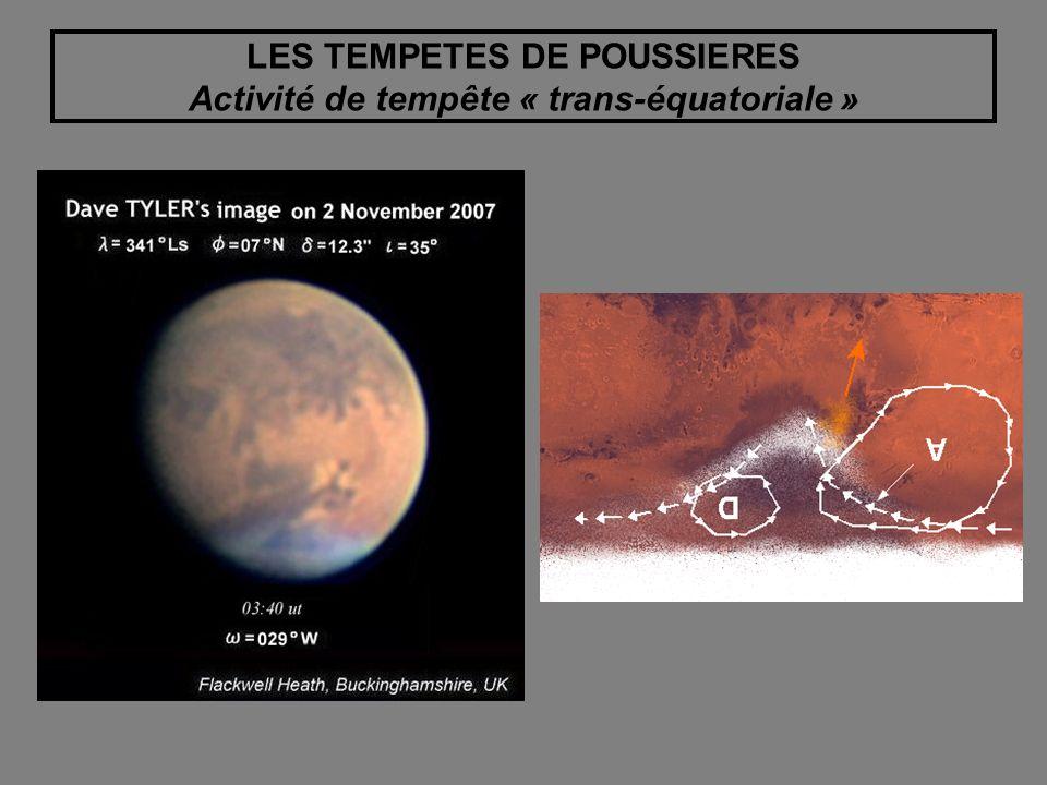 LES TEMPETES DE POUSSIERES Activité de tempête « trans-équatoriale »
