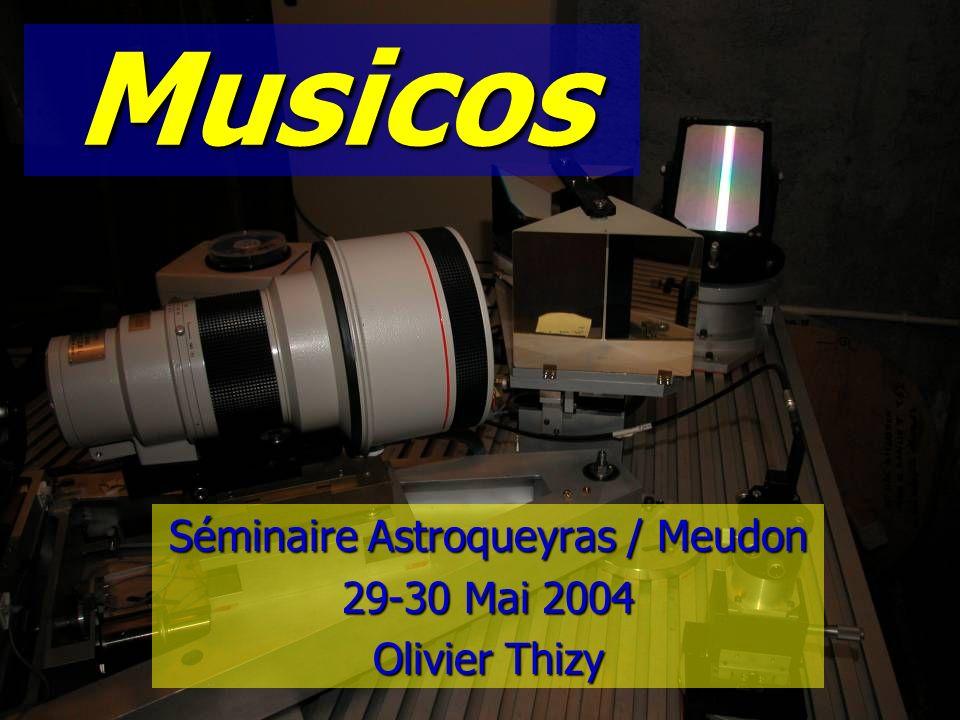 © Olivier THIZY / CALA & AstroQueyras - 2003 Agenda n Musicos [9h30-11h] –Présentation –Schéma de principe & fonctionnement –Exemples de résultats n Mini-Musicos: un peu de pratique.