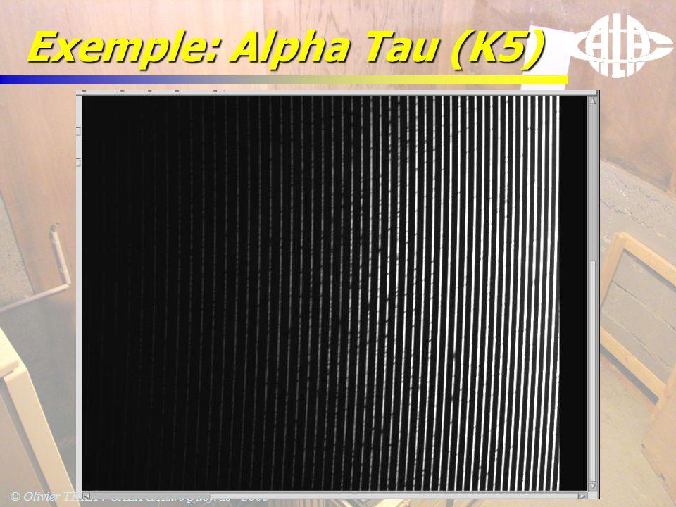 © Olivier THIZY / CALA & AstroQueyras - 2003 Exemple: Alpha Tau (K5)