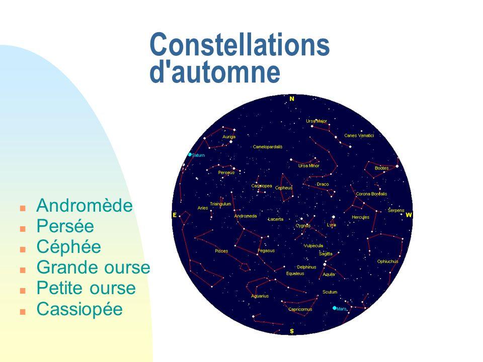 Constellations d'automne Andromède Persée Céphée Grande ourse Petite ourse Cassiopée