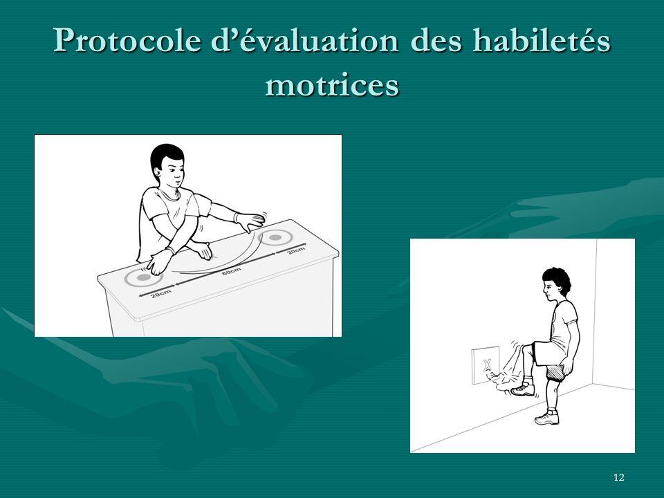 12 Protocole dévaluation des habiletés motrices