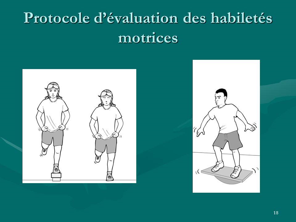 18 Protocole dévaluation des habiletés motrices