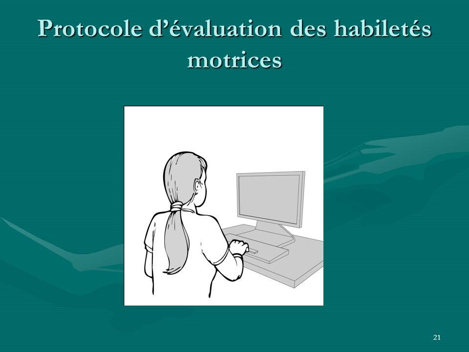 21 Protocole dévaluation des habiletés motrices