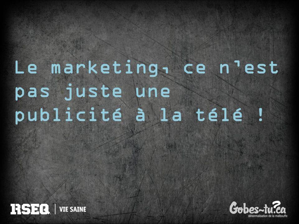 Le marketing, ce nest pas juste une publicité à la télé !