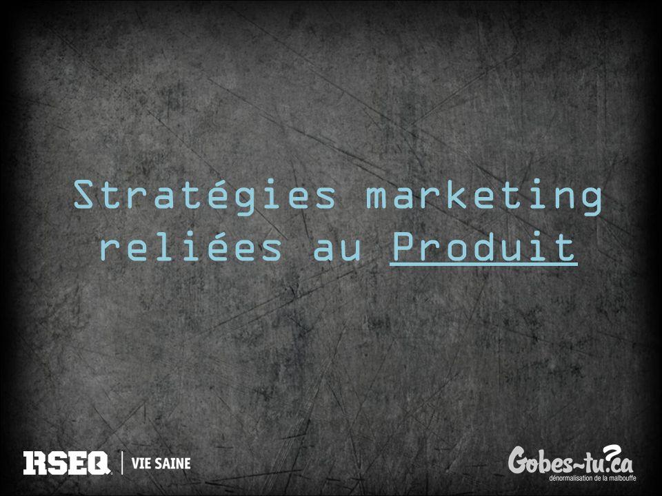 Stratégies marketing reliées au Produit