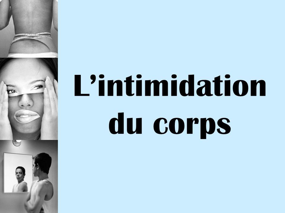 Lintimidation du corps