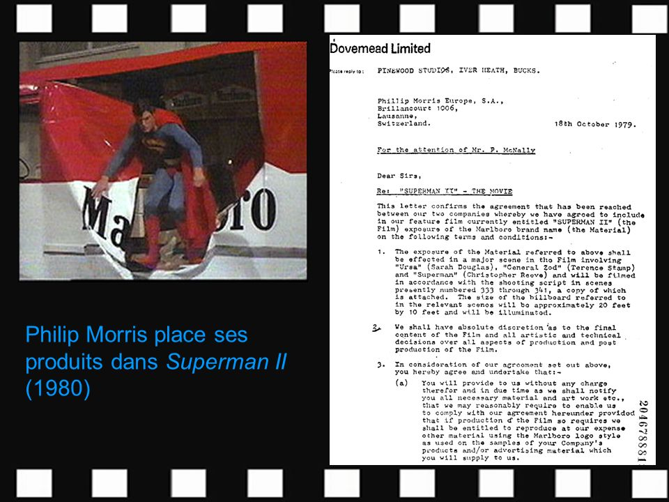 Philip Morris place ses produits dans Superman II (1980)