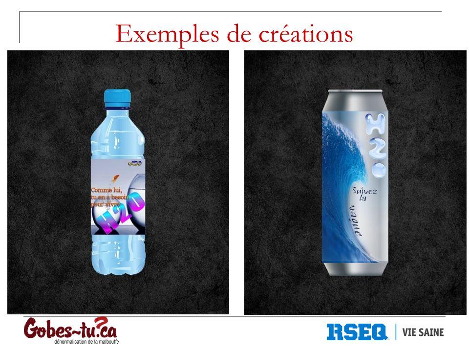 Exemples de créations