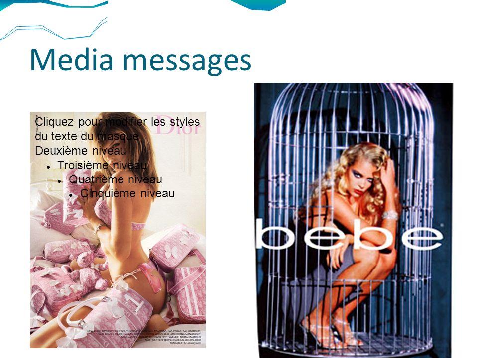 Media messages Cliquez pour modifier les styles du texte du masque Deuxième niveau Troisième niveau Quatrième niveau Cinquième niveau