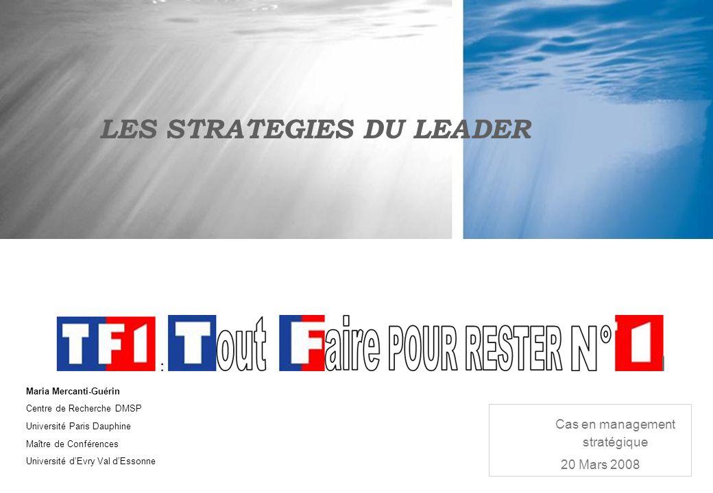 Maria Mercanti-Guérin Centre de Recherche DMSP Université Paris Dauphine Maître de Conférences Université dEvry Val dEssonne LES STRATEGIES DU LEADER