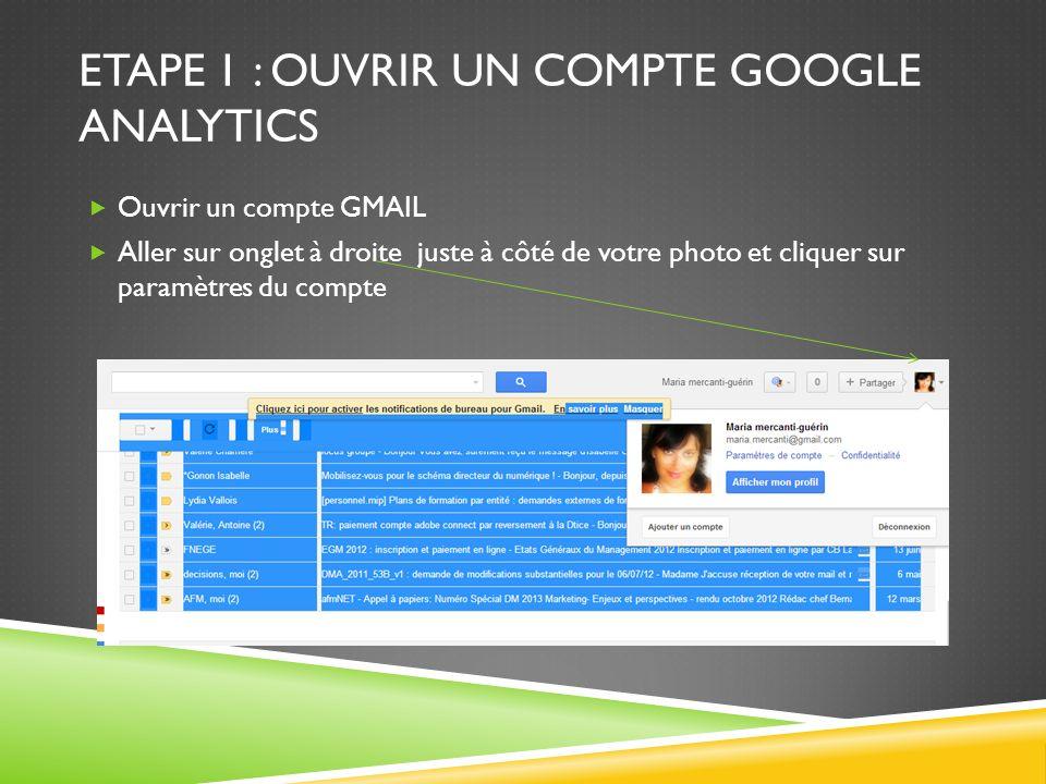 ETAPE 1 : OUVRIR UN COMPTE GOOGLE ANALYTICS Une fois dans paramètres du compte, vous cliquez sur produit et avez le choix entre plusieurs produits dont google analytics