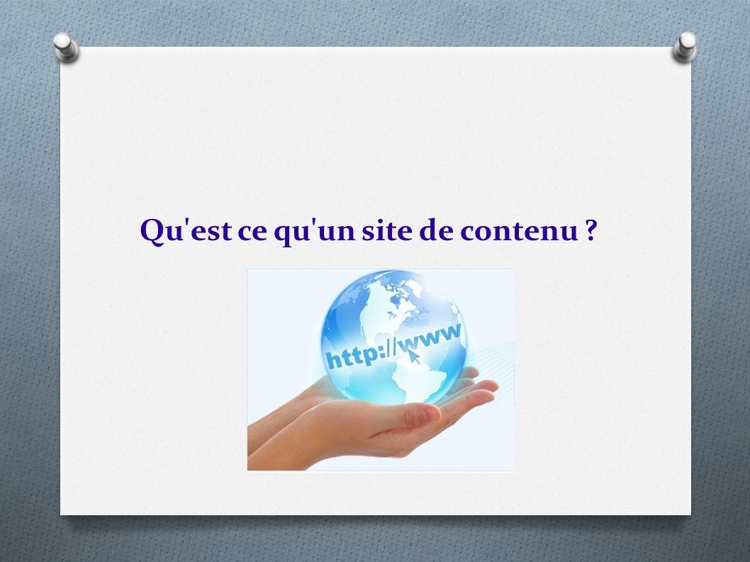 Qu'est ce qu'un site de contenu ?