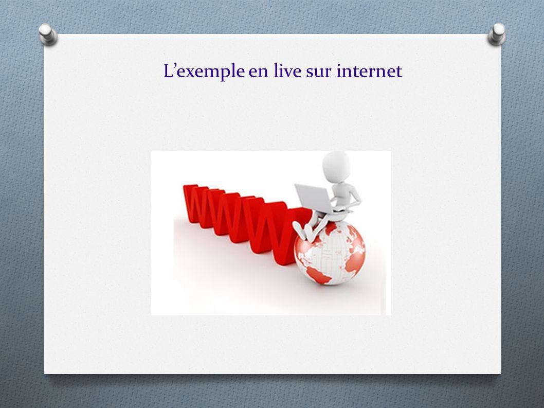 Lexemple en live sur internet