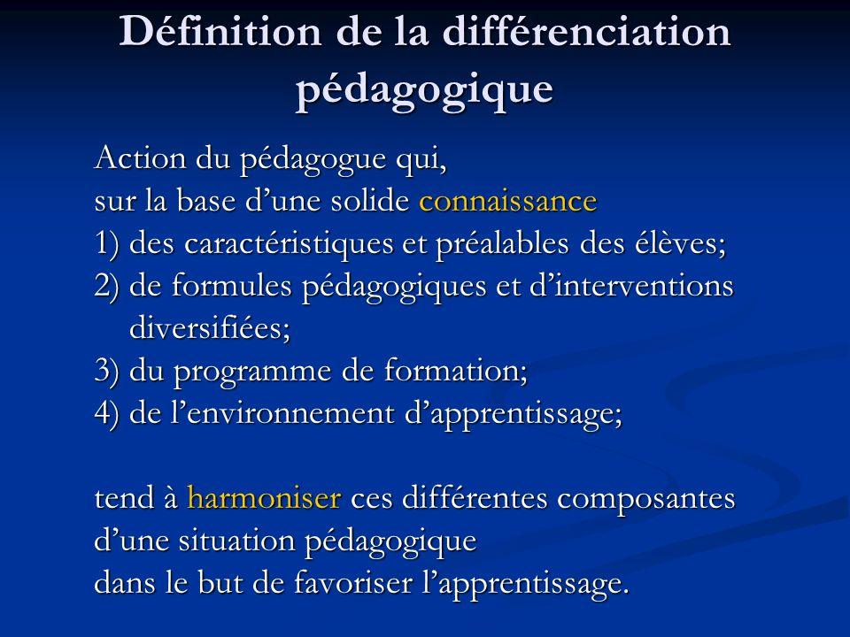 Objectif du projet Projet de recherche-action sur la différenciation pédagogique en Montérégie ayant pour objectif principal: De stimuler la mise en œ