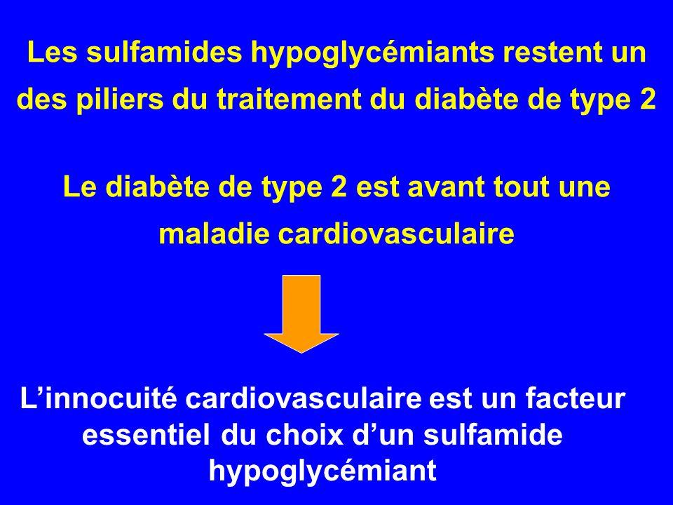 Les sulfamides hypoglycémiants restent un des piliers du traitement du diabète de type 2 Le diabète de type 2 est avant tout une maladie cardiovascula