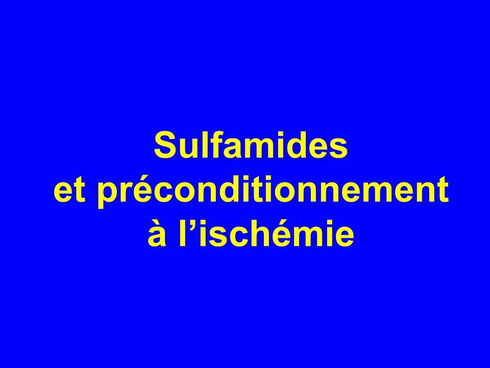 Sulfamides et préconditionnement à lischémie
