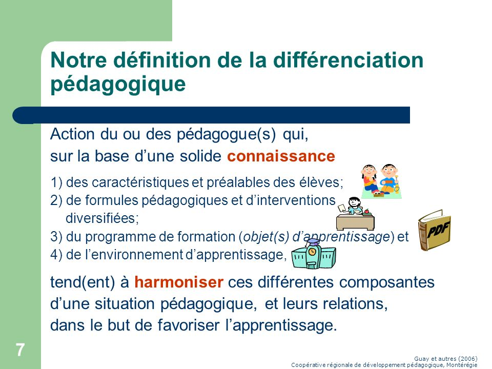 Guay (2006) daprès Legendre (2005) Apprentissage