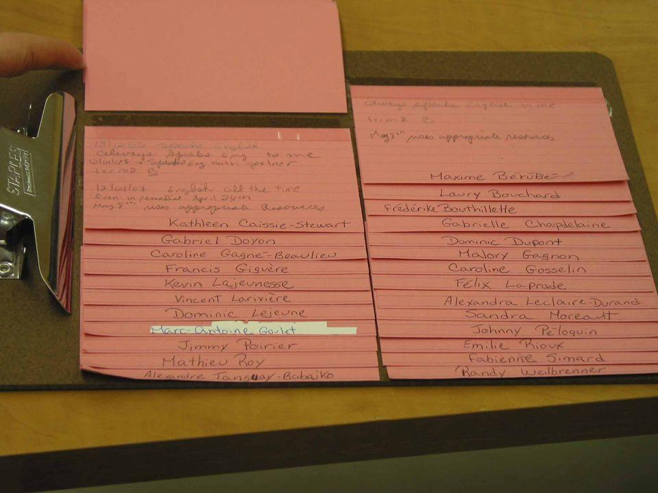 37 Moyens pour recueillir et conserver des traces de lapprentissage des élèves vis-à-vis les compétences ciblées.
