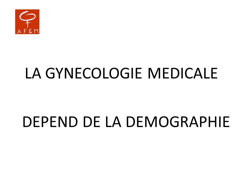 LA GYNECOLOGIE MEDICALE DEPEND DE LA DEMOGRAPHIE