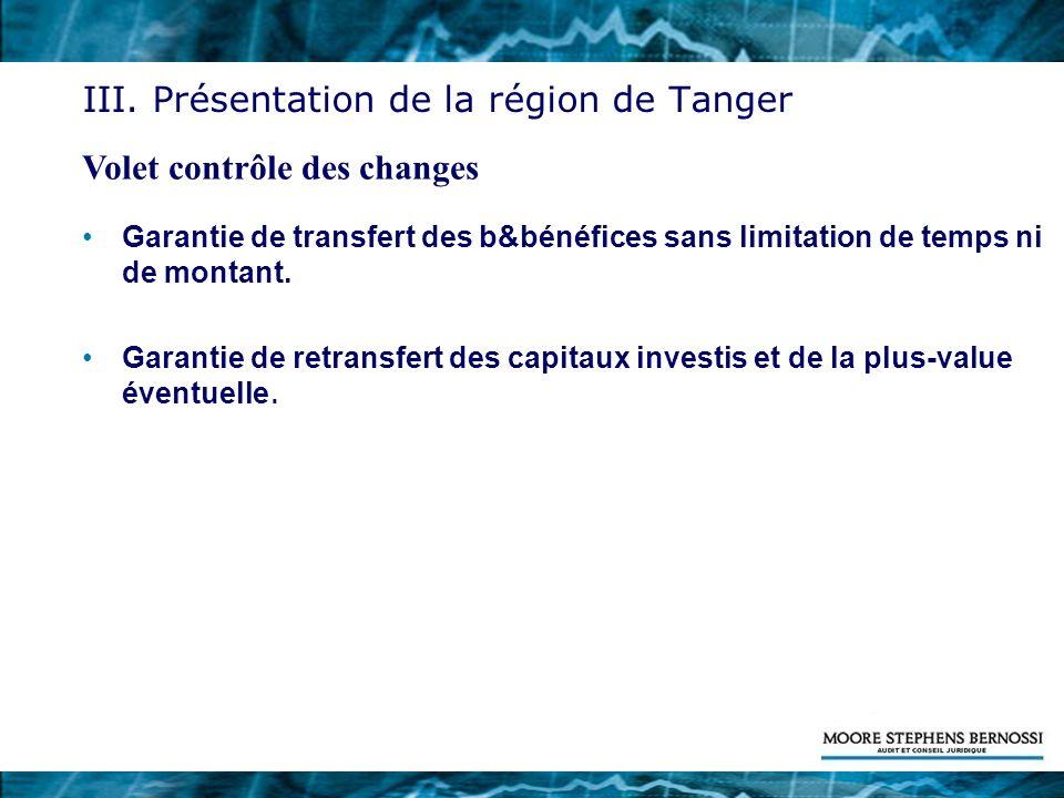 Garantie de transfert des b&bénéfices sans limitation de temps ni de montant. Garantie de retransfert des capitaux investis et de la plus-value éventu
