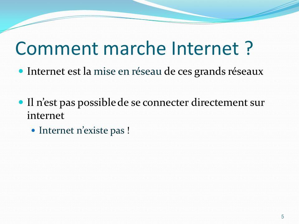 Comment marche Internet .