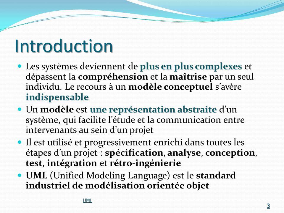 Objectifs poursuivis Représenter Représenter des systèmes entiers (au-delà du seul logiciel) par des concepts objets langage Créer un langage de modélisation utilisable par les humains et les machines couplage explicite Établir un couplage explicite entre les concepts et les produits exécutables UML 4