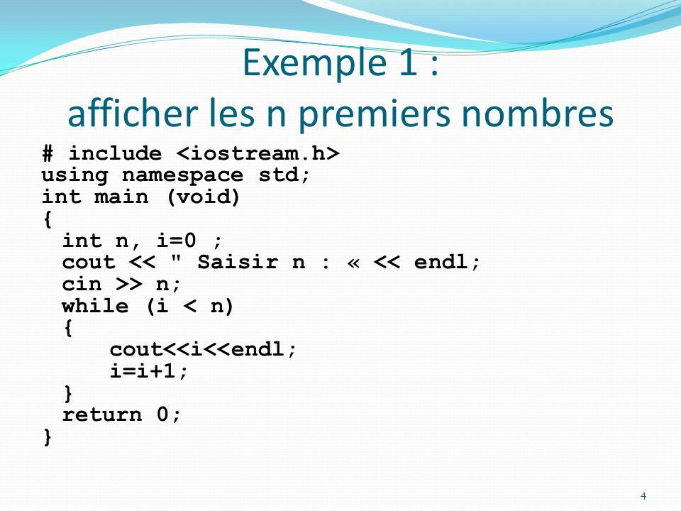 Exemples : Calcul de la somme des 100 premiers entiers : État final .