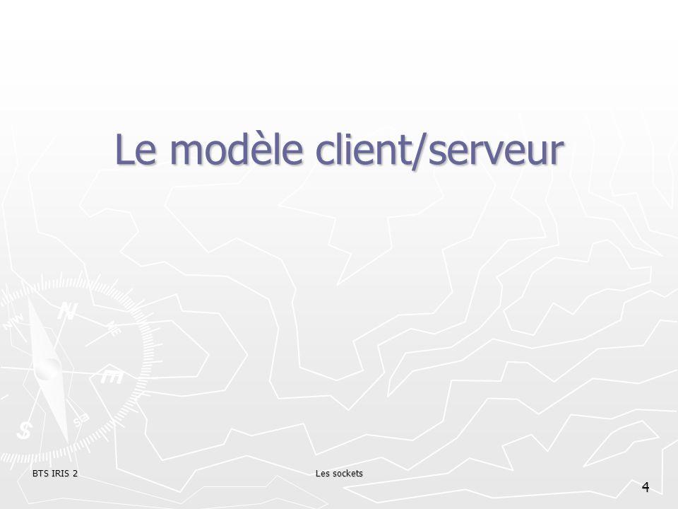 BTS IRIS 2Les sockets 4 Le modèle client/serveur
