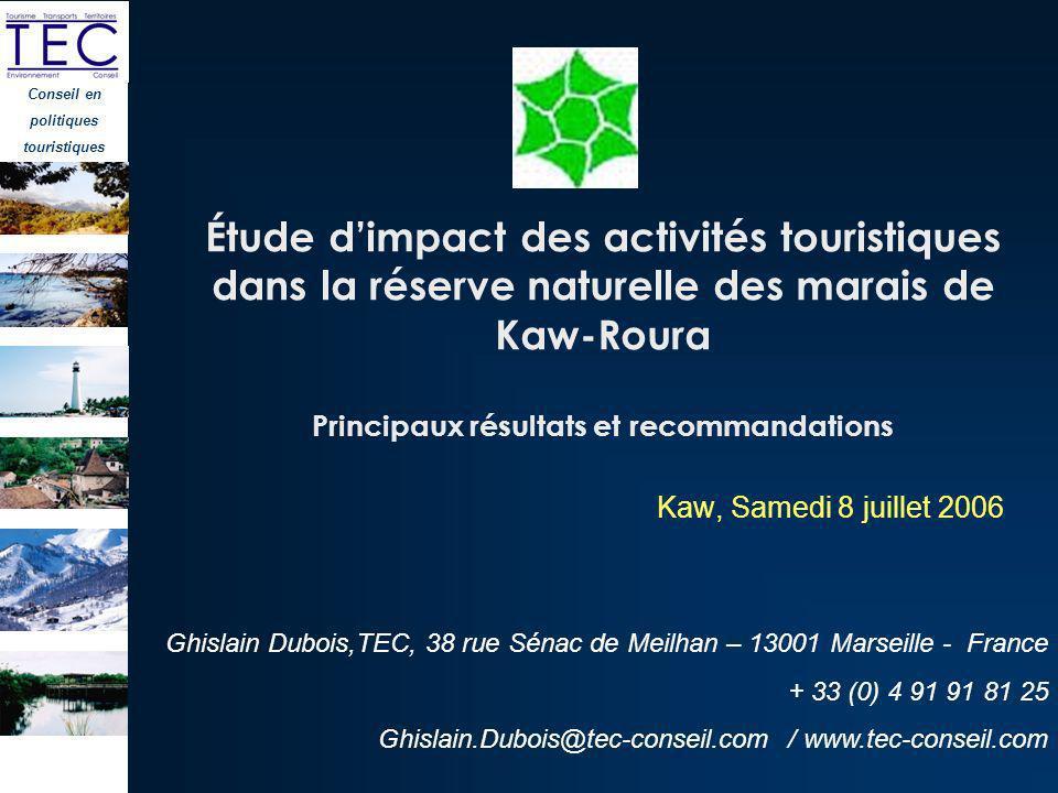 Conseil en politiques touristiques Ghislain Dubois,TEC, 38 rue Sénac de Meilhan – 13001 Marseille - France + 33 (0) 4 91 91 81 25 Ghislain.Dubois@tec-