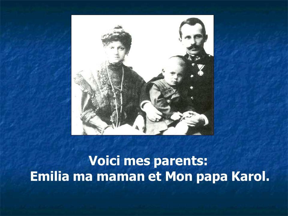 Voici mes parents: Emilia ma maman et Mon papa Karol.