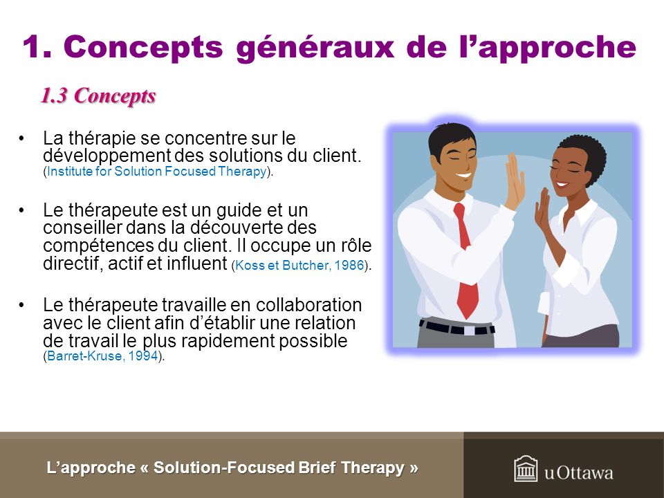 Lapproche « Solution-Focused Brief Therapy »