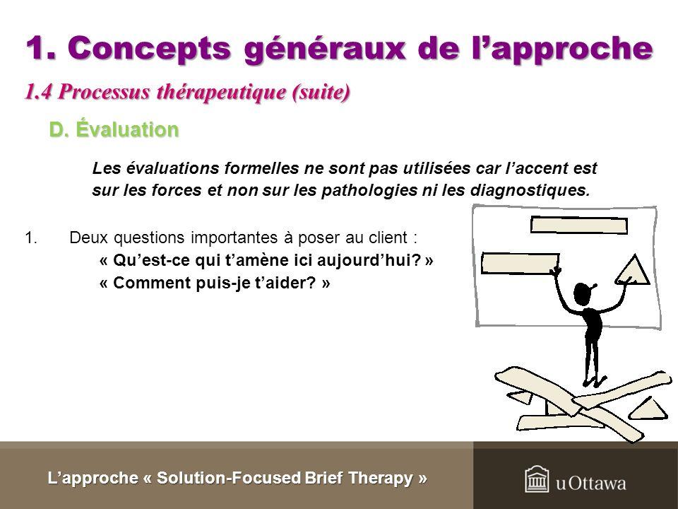 Lapproche « Solution-Focused Brief Therapy » Activité de comparaison Approche centrée sur les problèmes Comment puis-je vous aider? Parlez-moi du prob