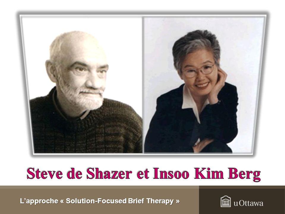 1. Concepts généraux de lapproche Dans les années 60-70, développement du « Brief therapy problem-focused model » au Mental Research Institute (MRI) à
